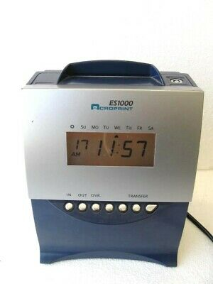 Acroprint Es1000 Electronic Totalizing Payroll Recorder Time Stamp Time Clock