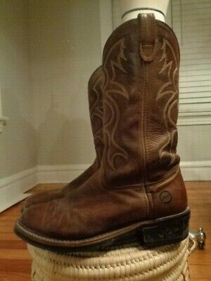 DOUBLE H BOOTS Blk ICE work leather western men's size 10 1/2 D 1554 made in USA