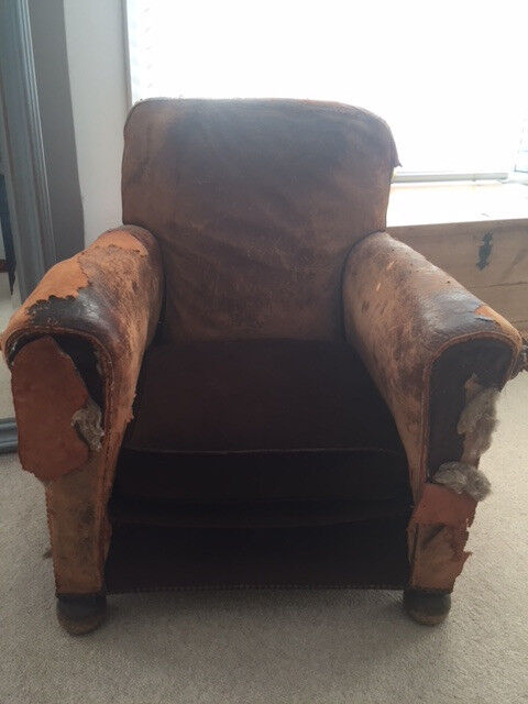 Antique French Leather Club Chair - Antique French Leather Club Chair In Hove, East Sussex Gumtree
