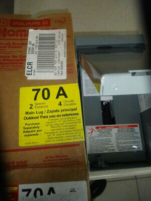 Square D 70 Amp Load Center Circuit Breaker Box - Outdoor