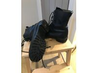 British Army Black Leather Combat / Assault Boots