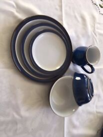 Denby Imperial Blue Crockery in good condition