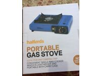 Halfords Portable Gas Stove Brand New