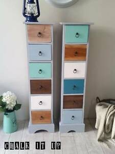 Pair Beach House DVD Cabinets ~ Like New Varsity Lakes Gold Coast South Preview