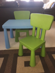 Kid's Ikea Table and 2 Chairs