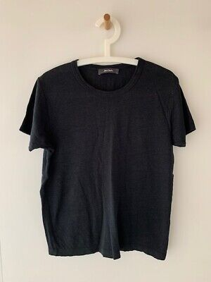Jac and + Jack black linen jersey Columbia tee t-shirt relaxed fit size S
