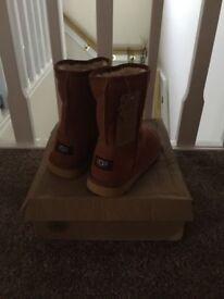Sheepskin boots UK size 4
