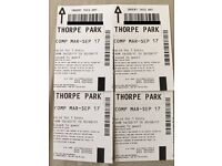 4x Thorpe Park Tickets valid ANYDAY from Mar-Sept 2017 weekday/weekend/Easter Holidays