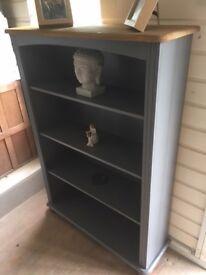 Renovated Grey Bookcase