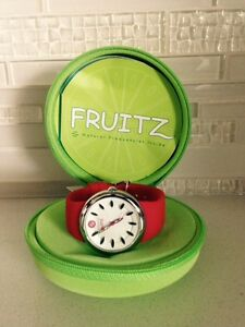 New Fruitz watch by Phillip Stein- Red Apple color