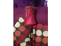 Red Table Lamp £10 ( in good condition)