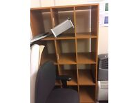 Office or Home MDF/Wooden FREE storage shelves 3 x 4 compartments shelving unit wood
