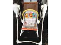 Fisher price 3 in 1 swing and rocker.