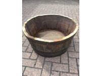 Oak Whisky Barrel Planter