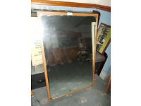 PAIR LARGE VINTAGE MIRRORS