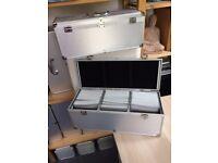 Aluminium CD carry cases (9 in total), 45cmx 18cm. £5/ea. Holds 300 CDs.