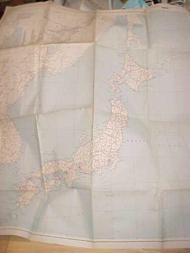 ORIGINAL WWII LARGE MAP OF JAPAN - 1945