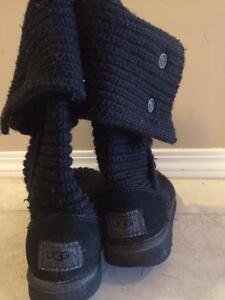 Black Knit UGG Boots - Great Condidtion, Size 6