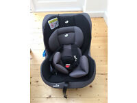 Joie Tilt Car Seat 0+. As new (used once) car seat black and grey for 0-4 years.