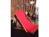 Dark Red deck chair **new & unopened**