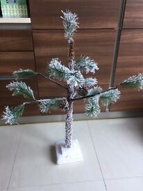 Small Snowy Artificial Christmas Tree from Homebase. Collect from Fulham