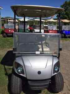 PRE-OWNED 2014 GAS 4 PERSON YAMAHA GOLF CART FOR SALE!