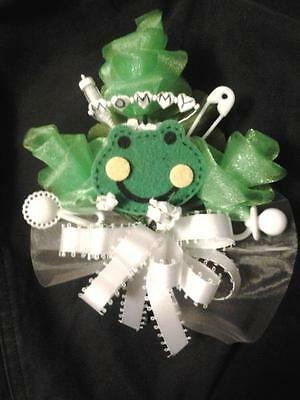 Boys Boutonniere (Baby shower MOMMY or DADDY frog boy girl corsage or boutonniere)