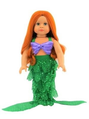 Charlotte as Little Mermaid 18'' doll  by American Fashion World New