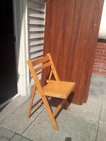 Solid Wood, Folding Chairs