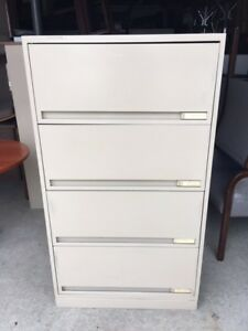Beige metal 4 drawer cabinet (10 available)