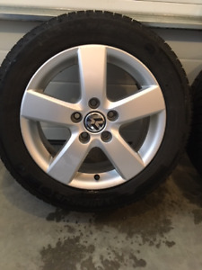 "Jetta 16"" Rims & Winter Tires"