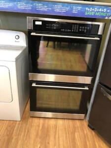 black glass double oven loads of features