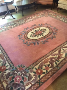 Wool Area Rug with 2 matching oval rugs