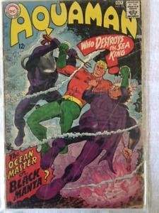 AQUAMAN #35 comic book - 1st appear. of THE BLACK MANTA - KEY !