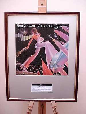 ROD STEWART ATLANTIC CROSSING ORIGINAL FRAMED ALBUM COVER ARTWORK