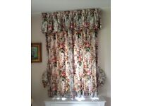 """Pair of floral curtains. Cotton fabric and lined. L60"""" x W44.5"""". Collect from Fulham or I can post"""