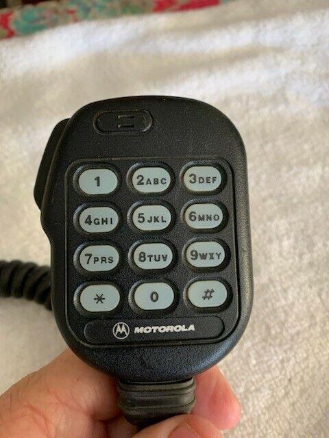 Mototorola MCS2000 DTMF Microphone w/Hang Up Clip