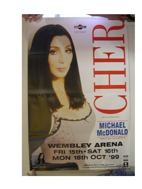 Cher Poster Tour London Subway 1999