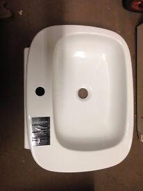 Designer, white, porcelain sink