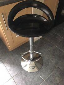 Black gloss kitchen bar stools