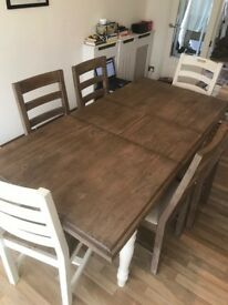 Barker & Stonehouse Carisbrooke extending dining table + 6 chairs