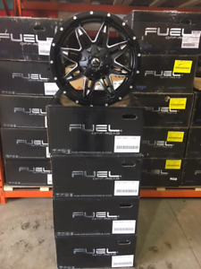 """20"""" Fuel Lethal Black and Milled Alloys for F150/Chev/GMC 1500"""