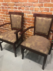 4 Dining Arm Chairs- Brand New - Mahogany Stain