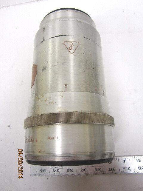"Vintage Bausch & Lomb Jumbo Anamorphic Cine Projector Lens 4 "" Dameter"