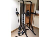 Bundle tower power + weights + barbells gym