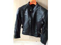 RK Sports ladies black leather motorcycle jacket