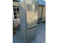 LG Fridge/Freezer in mirror effect brushed stainless steel