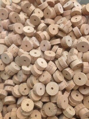 "Cork Rings, 50 Extra Select Natural, 1 1/4"" x 1/2"" x 1/4"" Hole"