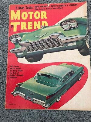 Motor Trend Magazine - April 1955 Cadillac El Dorado - Motor Trend Cadillac