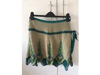 Karen Millen stunning peacock skirt size 10 £35
